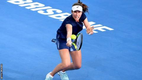 Konta fights back to seal victory over Keys in Brisbane
