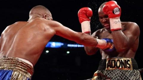 Adonis Stevenson defends himself against Badou Jack