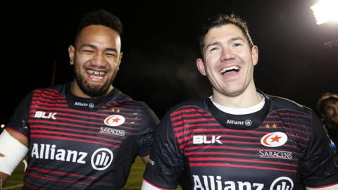 Sione Vailanu and Alex Goode