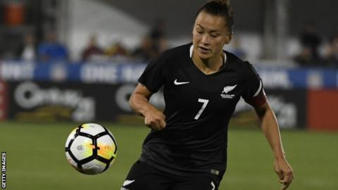 Ali Riley in action for New Zealand