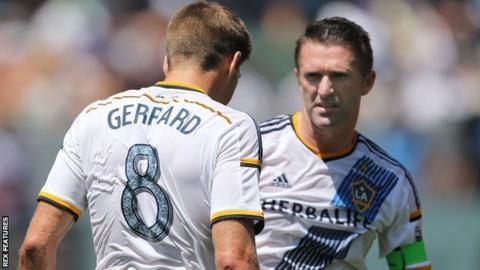 Steven Gerrard and Robbie Keane