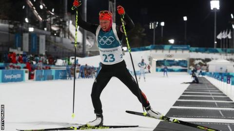 Women's Biathlon Kicked off early this morning