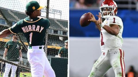 Kyler Murray has signed a contract with an MLB team but has also declared for the NFL draft