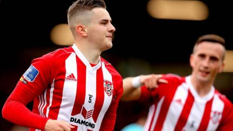 Ronan Hale hit Derry opening goal in the 23rd minute