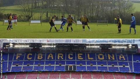 The 'New Camp' (above) and Nou Camp