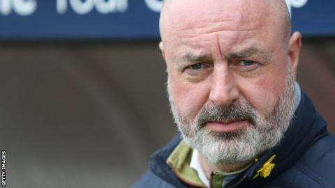 Keith Hill in the dugout for Rochdale