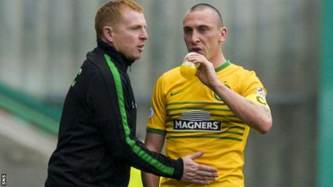 Neil Lennon was Scott Brown's manager during his time in charge of Celtic