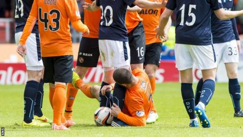 Nadir Ciftci was accused of biting Dundee's Jim McAllister