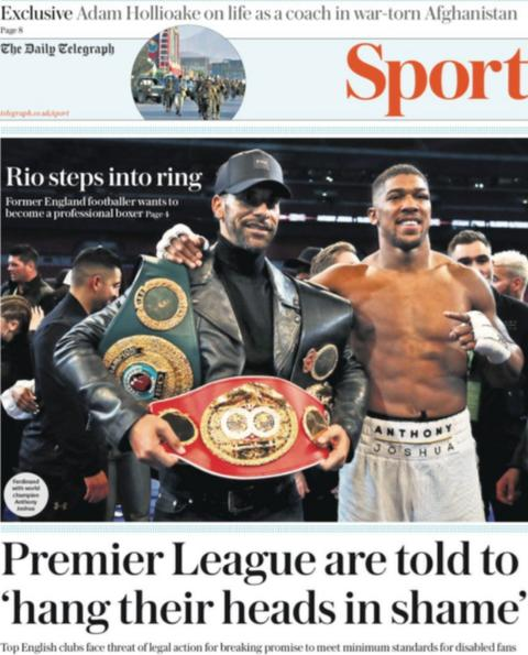 Rio Ferdinand wants to become a professional boxer, reports the Daily Telegraph