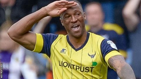 Oxford United striker Wes Thomas