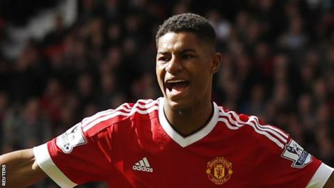 Manchester United striker Marcus Rashford