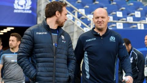 Scotland coaches Mike Blair and Gregor Townsend