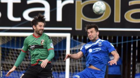 Allen (left) had scored two goals against Swifts before his dismissal