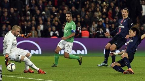 Paris St-Germain v St Etienne