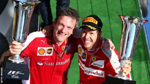 James Allison (left) became Ferrari's technical chief in 2013
