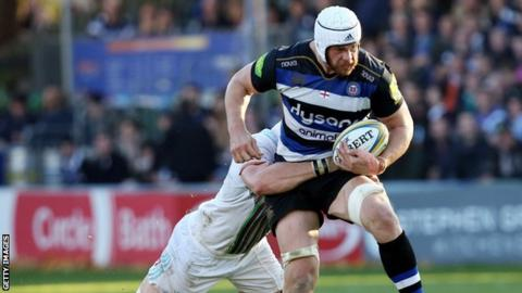 Dave Attwood playing for Bath