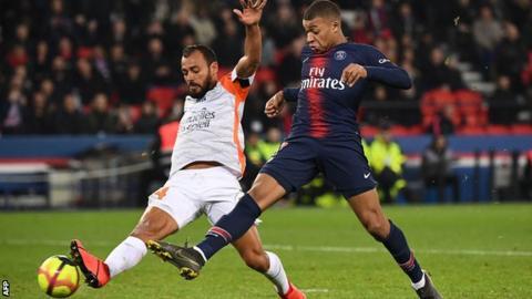 Angel DI MARIA scores sensational free kick in PSG win
