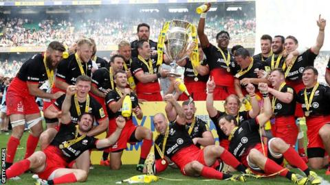Image result for saracens rugby premiership final winners