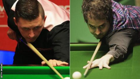 Kyren Wilson (left) and Anthony Hamilton