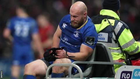 Richardt Strauss goes off injured in the Boxing Day win over Irish rivals Munster