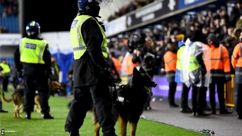 Large police presence at Millwall