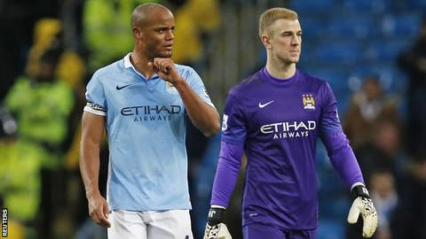 Vincent Kompany and Joe Hart
