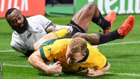 Australia's Hodge to miss rest of Rugby World Cup pool stage