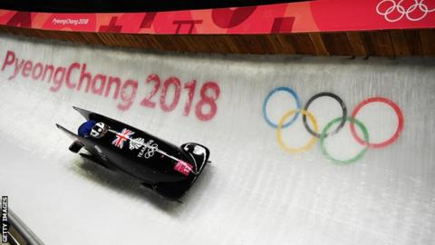 Mica McNeill and Mica Moore in action at the Winter Olympics