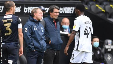 Jordon Garrick will miss Swansea's games against Millwall, Sheffield Wednesday and Birmingham