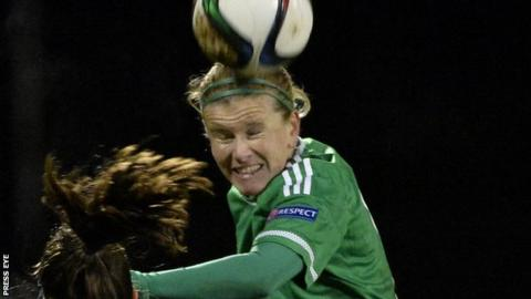 Julie Nelson in action for Northern Ireland