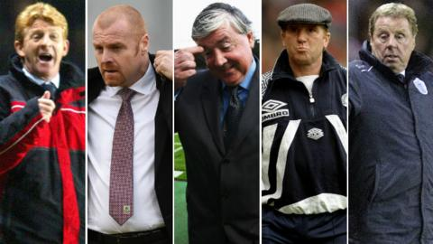 Gordon Strachan, Sean Dyche, Joe Kinnear, Alan Ball and Harry Redknapp