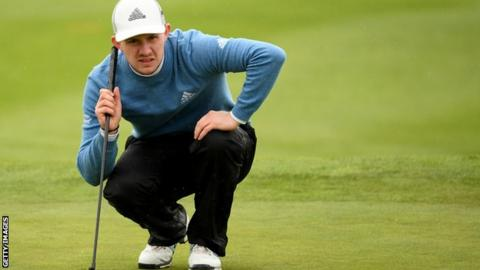 Scottish golfer Connor Syme