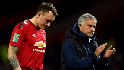Phil Jones & Jose Mourinho