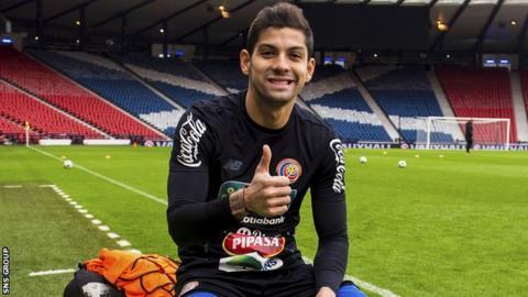 Costa Rica and Celtic defender Christian Gamboa at Hampden