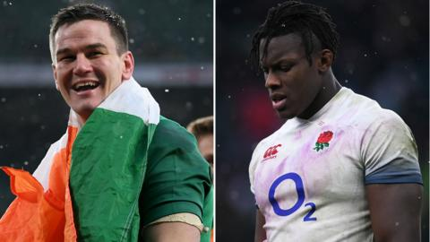 Johnny Sexton and Maro Itoje