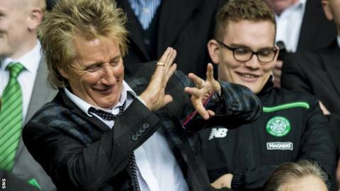 Singer Rod Stewart at Celtic Park