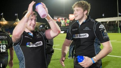 Stuart Hogg and Jonny Gray