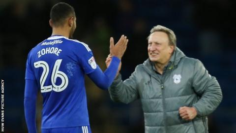 Kenneth Zohore and Neil Warnock