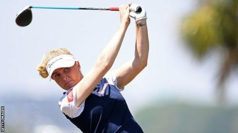 England's Charley Hull at the US Women's Open