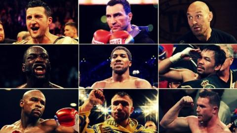 Boxers including Carl Froch, Wladimir Klitschko, Tyson Fury and Anthony Joshua