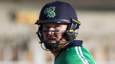 Paul Stirling was named man of the series after Ireland's triumph over Afghanistan