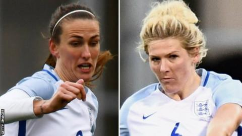 Jill Scott (right) and Millie Bright