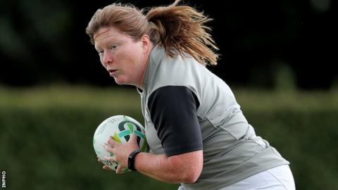 Ruth O'Reilly at Ireland training during the early stages of this year's World Cup