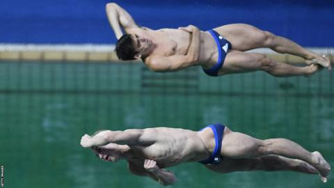 GB diving pair Jack Laugher and Chris Mears (top)