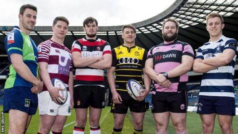 Chris Laidlaw (Boroughmuir), Ross Graham (Watsonian FC), Ross Bundy (Stirling County), Craig Jackson (Melrose), Steven Longwell (Ayr), Nick Sutherland (Heriots)