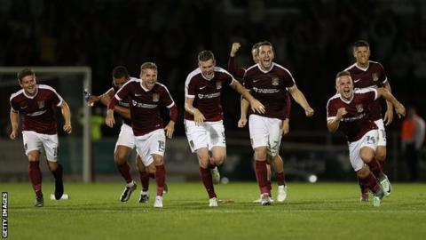 Northampton Town players