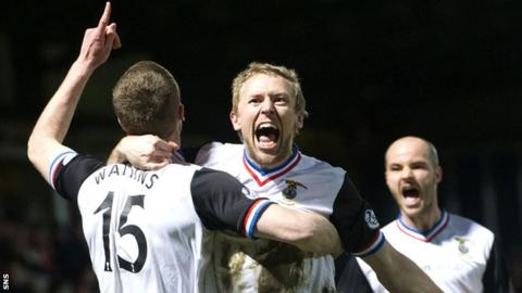 Richie Foran (centre) celebrates with Inverness Caledonian Thistle