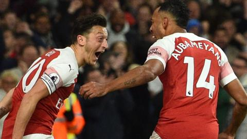 Pierre-Emerick Aubameyang and Ozil