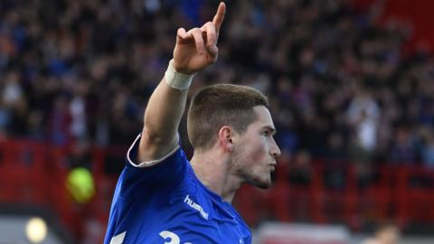 Rangers' Ryan Kent celebrates