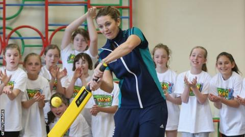 Charlotte Edwards at a Chance to Shine event